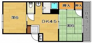 茨木市上泉町 2DK 家賃5万円