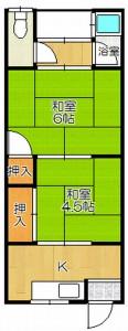 茨木市沢良宜浜2丁目 2K 家賃3.9万円