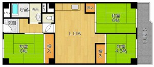 茨木市北春日丘1丁目 3LDK 家賃7万円