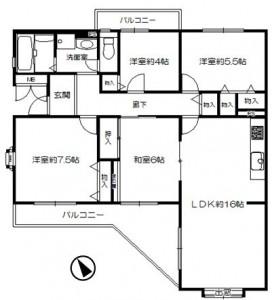 阿武山一番館109号図面