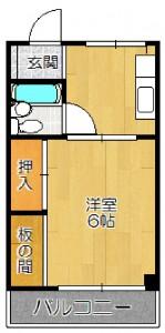 摂津市千里丘東2丁目 1K 「メゾン千里丘」 家賃3.9万円