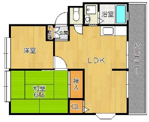 茨木市真砂1丁目 2LDK 家賃6.5万円