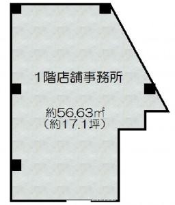 茨木市中穂積1丁目 1階店舗事務所 家賃22万円