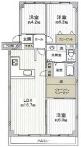 レックスマンションB棟506号2150